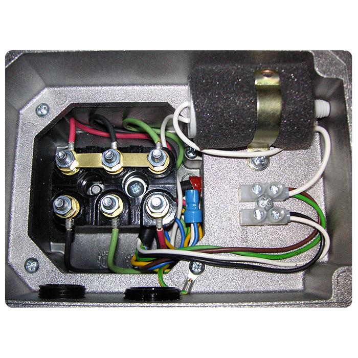 Morsettiera motore elettrico con servoventola monofase