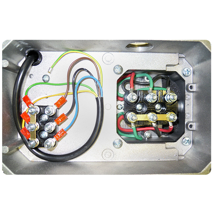 Morsettiera motore elettrico con servoventola trifase