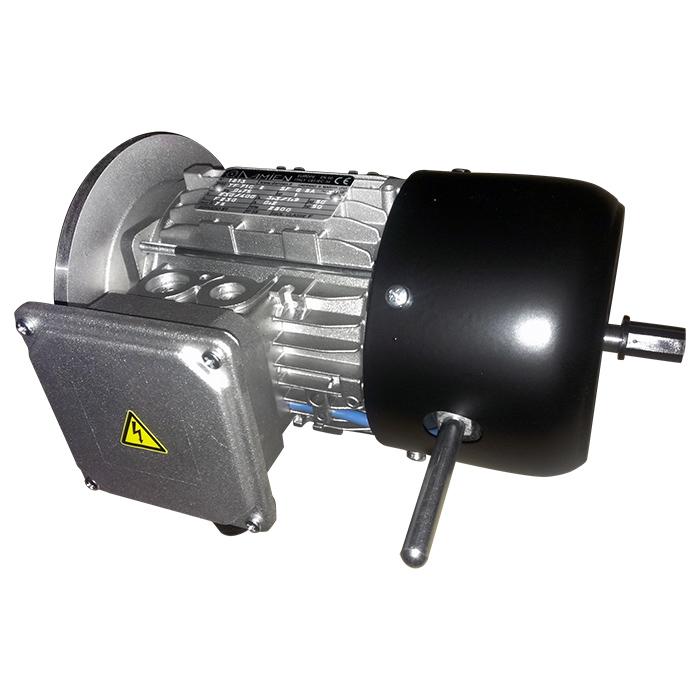 Motore elettrico trifase autofrenante bialbero con leva di sblocco