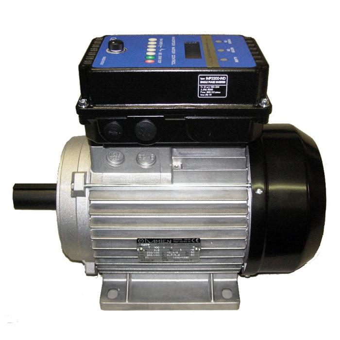 Motore elettrico MEC 100 B3 con inverter monofase a bordo