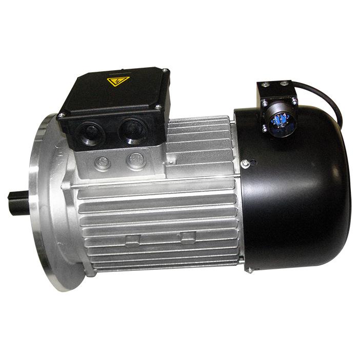 Motore elettrico con encoder e connettore militare a 10 poli