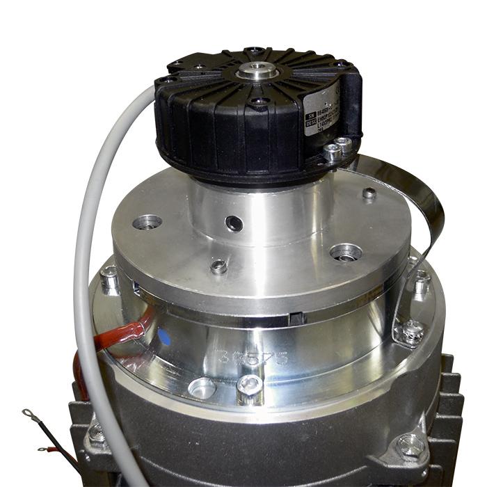 Motore elettrico con freno positivo ed encoder