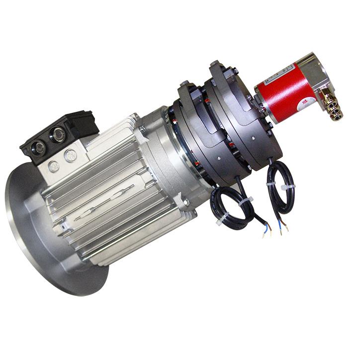 Motore elettrico con doppio freno ed encoder